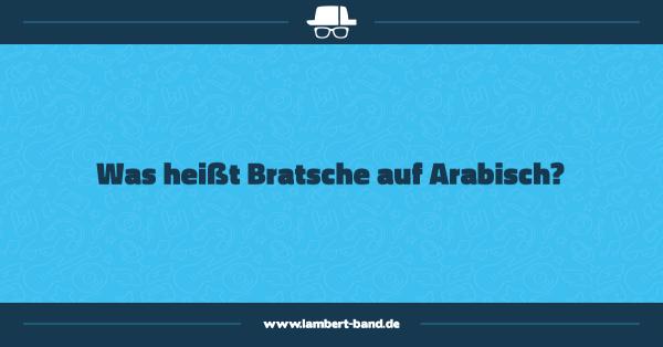 Was heißt Bratsche auf Arabisch?