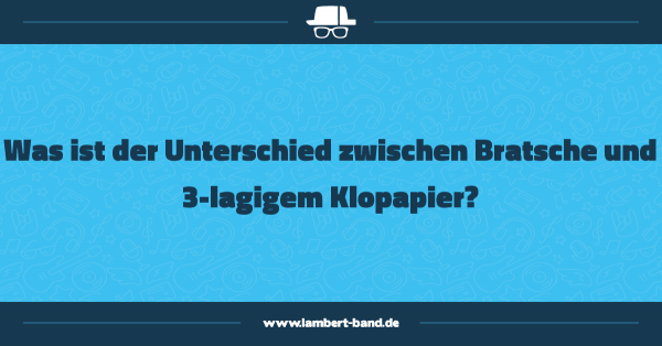 Was ist der Unterschied zwischen Bratsche und 3-lagigem Klopapier?