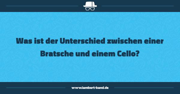 Was ist der Unterschied zwischen einer Bratsche und einem Cello?